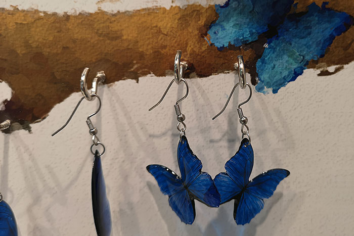 New Colour for Blue Morpho Butterfly Jewellery