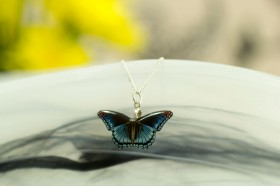 Admiral butterfly necklace