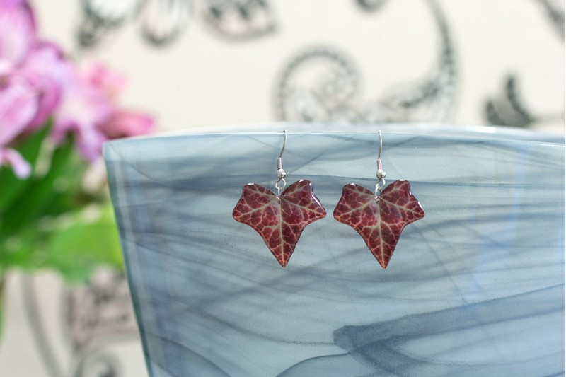 Autumn ivy earrings