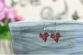 Autumn ivy small earrings