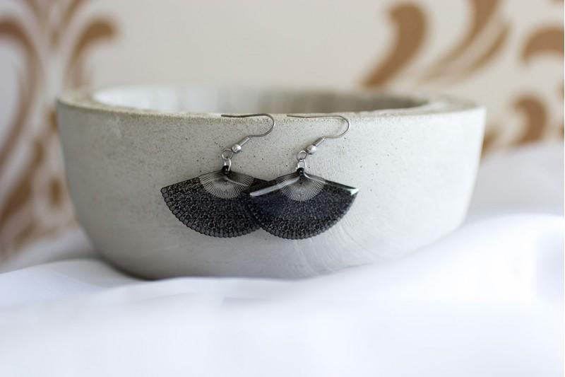 Lace Fan earrings