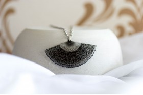 Lace Fan necklace
