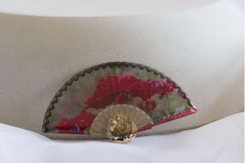 Rose Fan Brooch