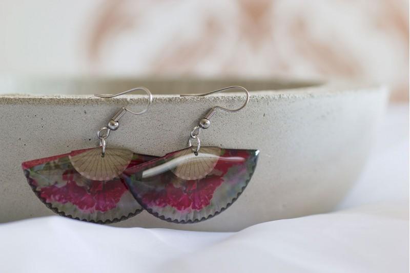 Rose Fan earrings