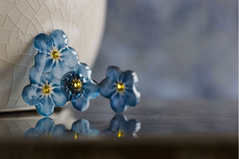 Forget-me-not Big pin